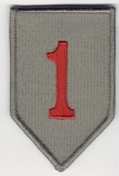 Aufnäher ACU 1st Infantry Division rote Zahl