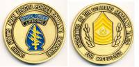 Coin US Army Special Forces Command, Command Sergeant Major, 45 mm