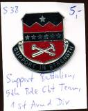 Unit Crest Support Battalion, 5th Brigade Combat Team, 1st Armored Division, Stacheln, S38