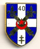 Metal Badge France, 40th Artillery Regiment, pinback, Boussemart