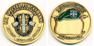Coin 19th Special Forces, 45 mm