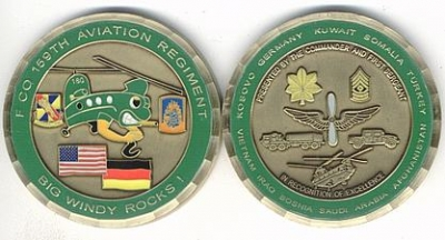 Coin F Company 159th Aviation Regiment 57 mm sehr groß!!!