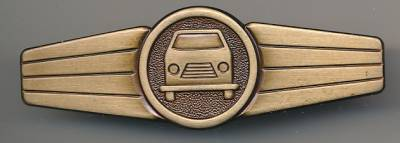 BOS Insignia Driving Personnell, bronce, metal