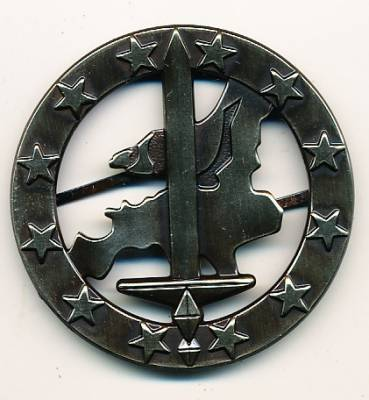 Beret Badge Eurocorps, metal, new