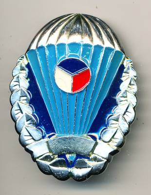 Parachutist Badge Czech Republic, silver without number, original