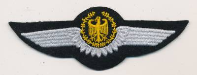 Pilot Wing, Army, gold on black, 1985 type
